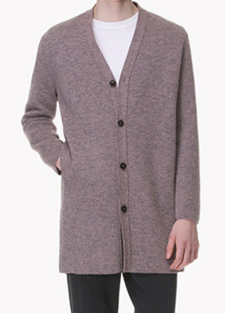 [Limited] [Italy yarn] Semi over fit buttoned knit cardigan-2 color