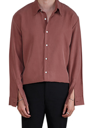 Front sleevev placket semi over fit shirt -4 color