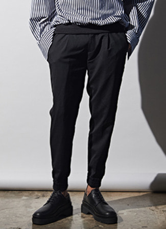 [Wool 100%] Side tape jogger pants [2차분 입고완료]