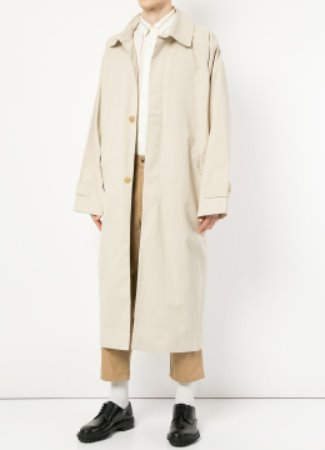 [Japan fabric] Hed st long trench coat