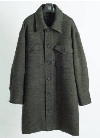 [50% SALE] 2pocket jersey wool outer shirt - 2 color