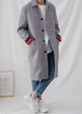 [Limited] Single breasted mac coat - sky gray