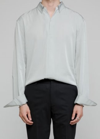 [수입 원단] 19 open collar shirt rayon ver. - 2color