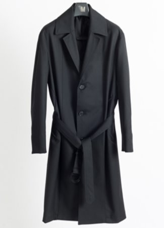 Notched single trench coat