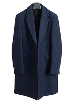 Tweed wool double coat-blueblack[균일가]  [품절 임박]