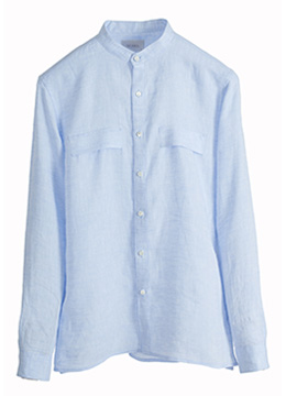 [40%sale] Chest flap chinese collar premium linen shirts- 4 colors
