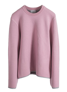 [Wool 100%] Cover stitch pink over knit -[40% SALE]