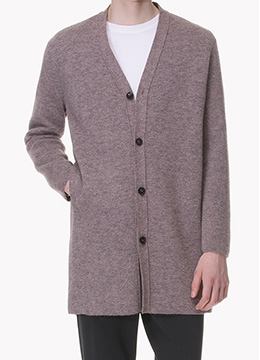 [50% SALE] Semi over fit buttoned knit cardigan-2 color