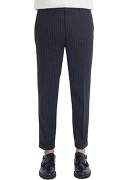 [특가 기획] Pinstripe tapered fit wool slacks - 4 season