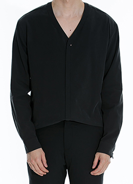 V neck zip up shirts - 2 color