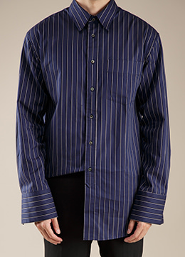 [Limited] Multi stripe long shirts - 2 color