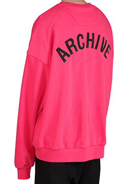 [Limited.] Archive embroidery over fit sweatshirt - 2 color