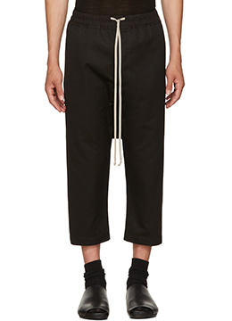 Drawstring Cropped Trousers - 2 fabric