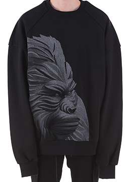 [Limited] Gorilla print over fit sweatshirt - 2 color