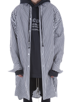 [40% SALE] Stripe long over shirts