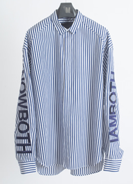 [Limited] Arm embroidered stripe shirts  [소량 기획 판매]