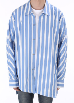 [Limited] Front diagonal stripe shirts ver.2 - 2 color