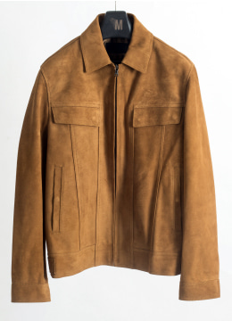 Suede zip up trucker Jacket- 5 colors
