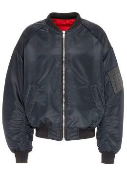 Reversible Black & Red Bomber Jacket