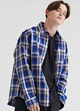 Heavy check over shirts - [3 color]