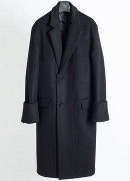 Turn up cuffs over coat-black