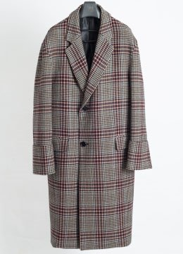 Turn up cuffs over coat-wine check