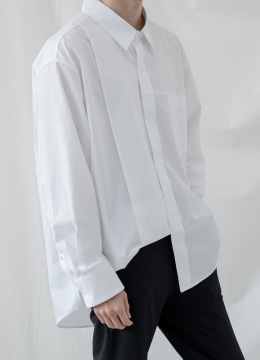 Slit over shirt - white