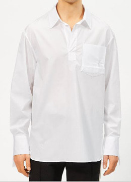 Pocket point pullover shirts-white