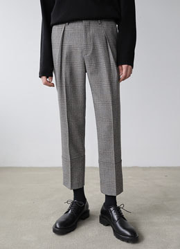 [MOMA&D.ANSWER] Check turn up pants