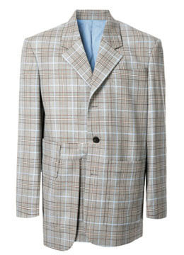 [40% SALE]  Blue check layerd blazer