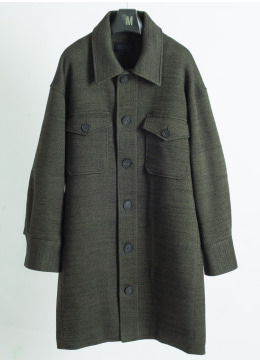2pocket jersey wool outer shirt - 2 color