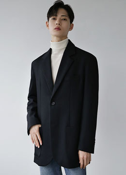 [moma&danswer] Wool twill oversized single jacket
