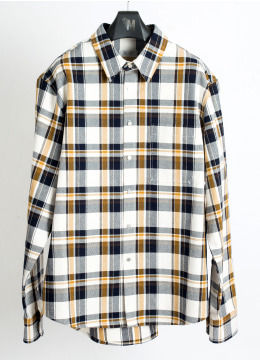 [Japan fabric] Heavy check over shirts - [5 color]