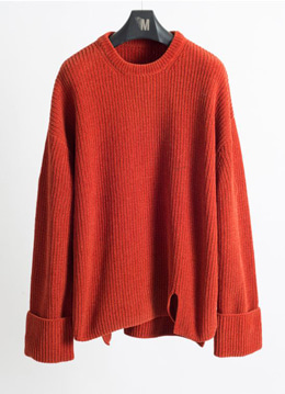 [Italy yarn] Turn up velvet heavy sweater -  5 color [Limited]