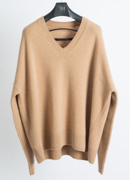 [Cashmere] V neck over fit sweater