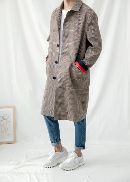 [Limited] Single breasted mac coat - yellow beige