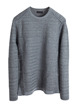 Zigzag mohair span knit-cement grey - 50% sale !!!