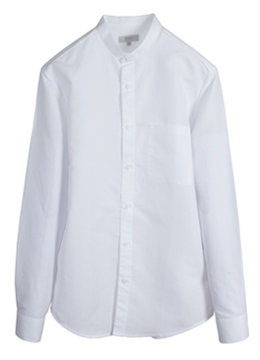 Linen chinese collar square pocket shirts-White [품절 임박]