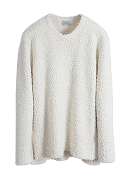 [Limited] cloud boucle loose knit (Extra soft)-4color [품절 임박]