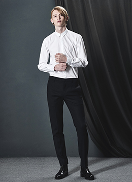 EDGE SLIM COLLAR WHITE HIDDEN SHIRTS [1차 리오더완료]