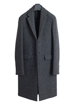 [시즌오프] Tweed wool single coat-charcoal
